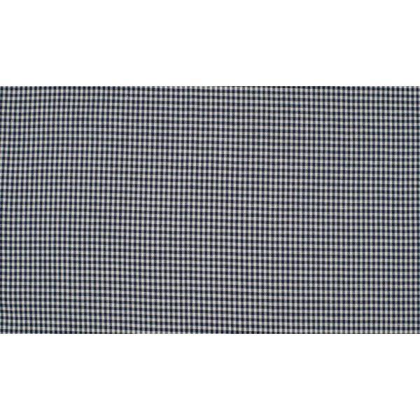 Marineblauw wit katoen - 10m boerenbont op rol - Mini ruit