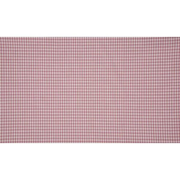 Oud Rose wit katoen - 10m boerenbont stof op rol - Mini ruit