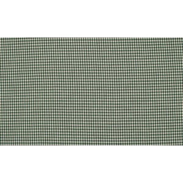 Glasgroen wit katoen - 10m boerenbont stof - Mini ruit