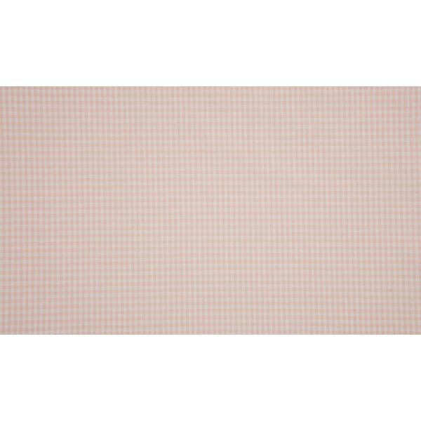Zalm wit katoen - 10m boerenbont stof op rol - Mini ruit