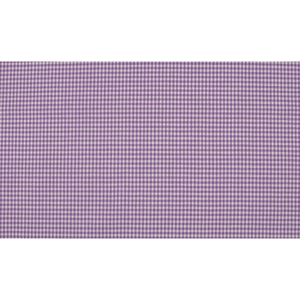 Paars wit katoen - 10m boerenbont stof op rol - Mini ruit