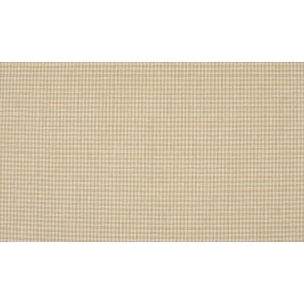 Zand wit katoen - 10m boerenbont stof op rol - Mini ruit