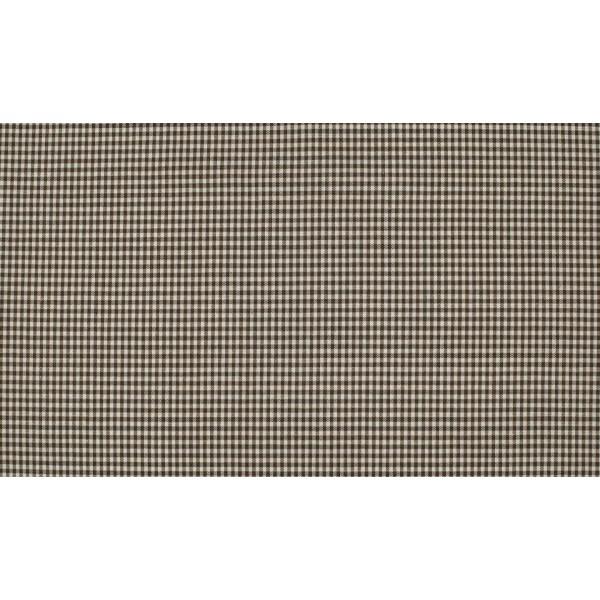 Bruin wit katoen - 10m boerenbont stof op rol - Mini ruit