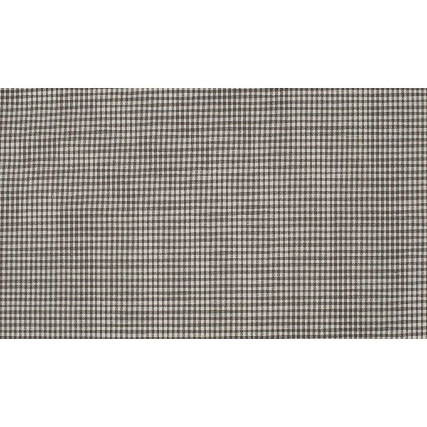 Donkergrijs wit katoen - 10m boerenbont op rol - Mini ruit