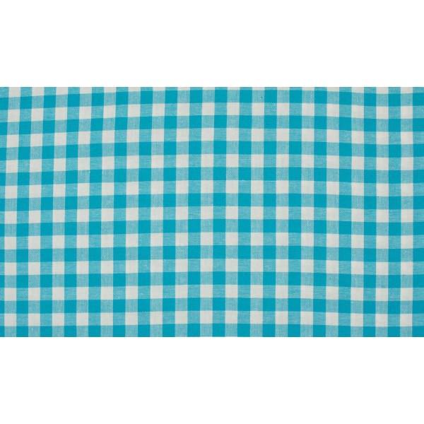 Oceaanblauw wit geruite stof - 10m boerenbont stof - Katoen