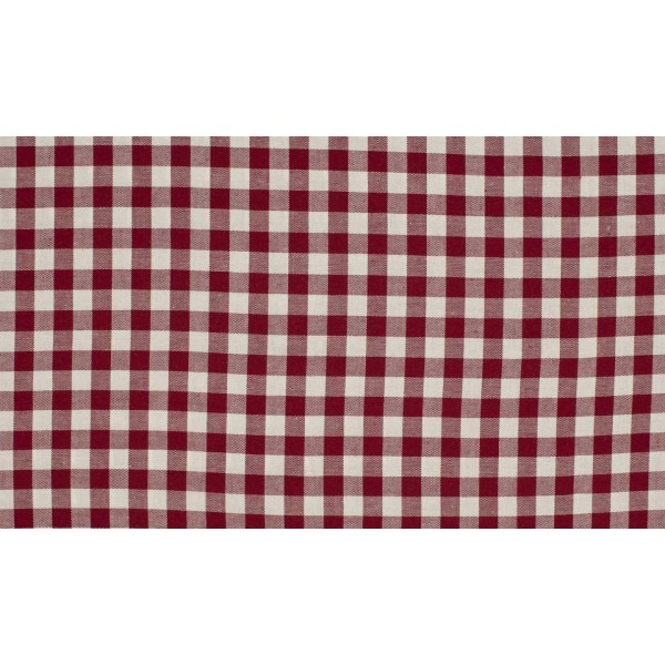 Bordeaux Rood wit geruite stof - 10m boerenbont stof op rol