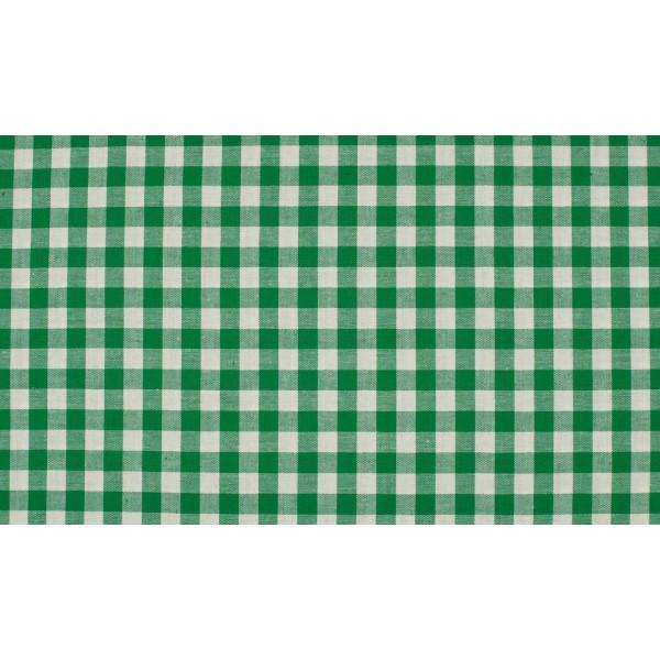 Groen wit geruite stof - 10m boerenbont stof - Katoen op rol