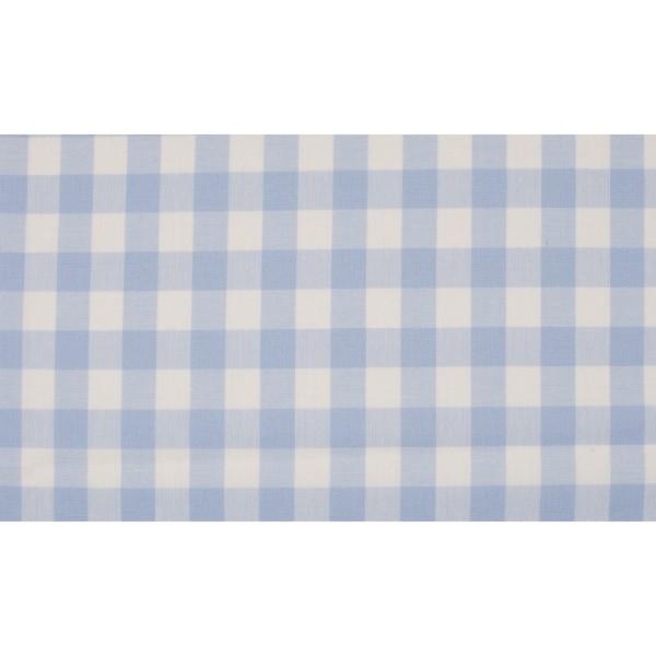 Baby Blauw wit geruite stof - 10m katoen op rol - Boerenbont