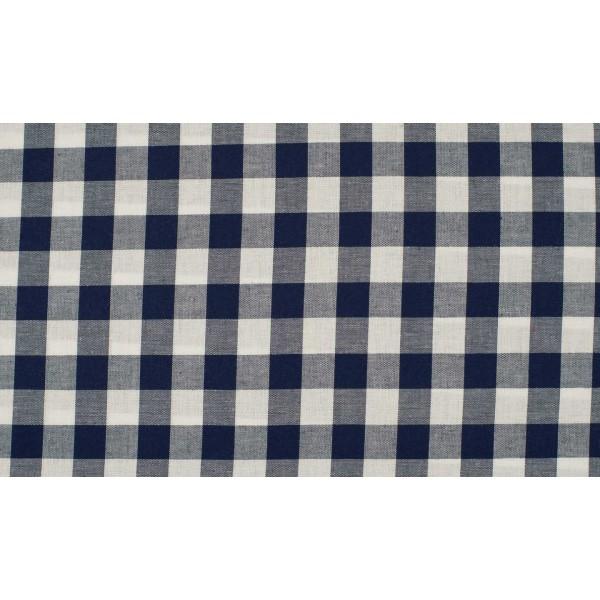 Blauw wit geruite stof - 10m boerenbont stof op rol