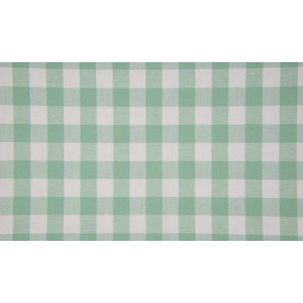 Mint wit geruite stof - 10m katoen op rol - Boerenbont