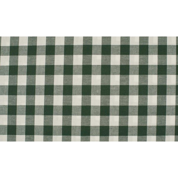 Glasgroen wit geruite stof - 10m katoen op rol - Boerenbont