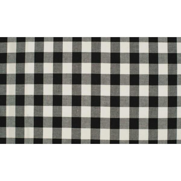 Zwart wit geruite stof - 10m katoen op rol - Boerenbont