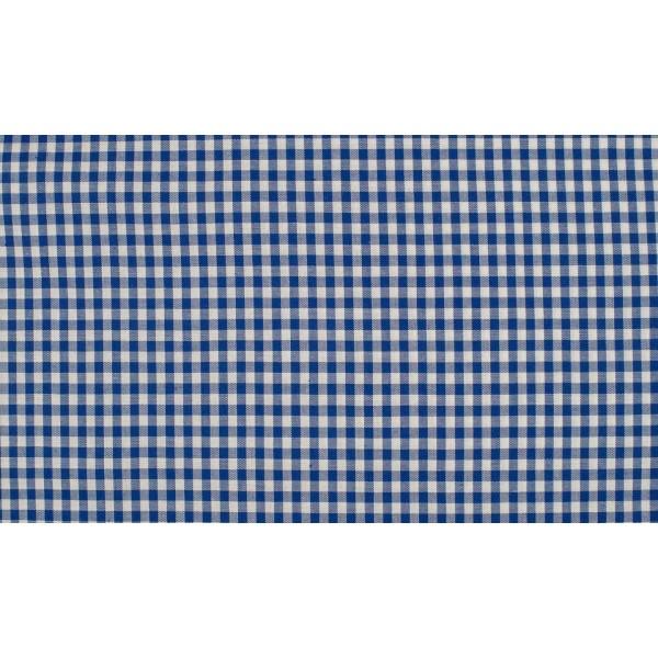 Midnachtsblauw wit boerenbont - 10m katoen - Kleine ruit