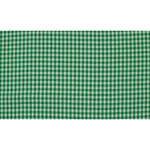 Groen wit boerenbont - 10m katoen op rol - Kleine ruit