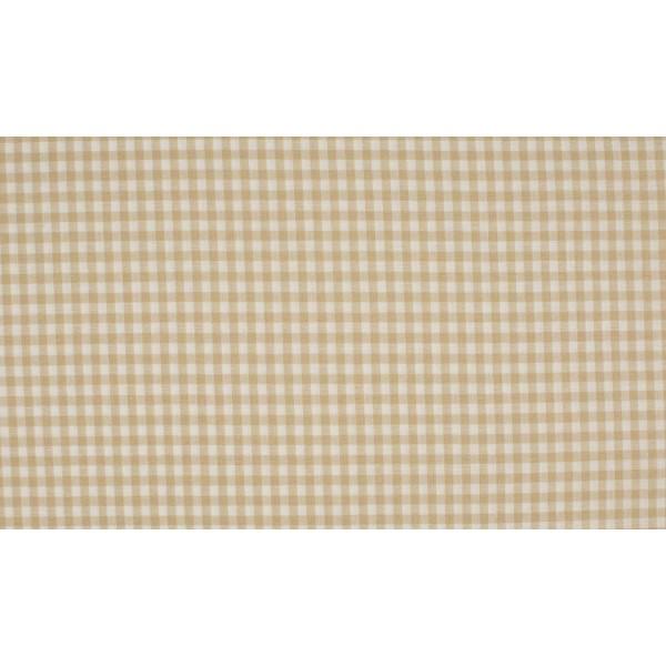 Zand wit boerenbont - 10m katoen op rol - Kleine ruit