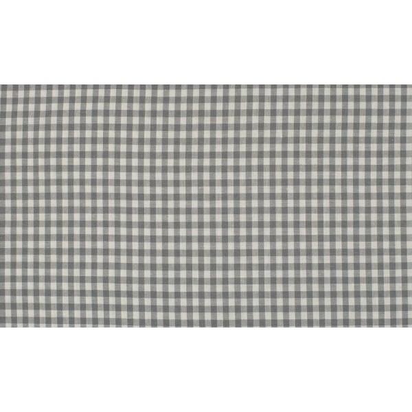 Grijs wit boerenbont - 10m katoen op rol - Kleine ruit