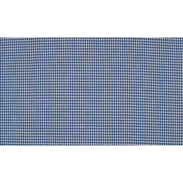 Outlet stoffen -Midnachtsblauw wit geruit katoen