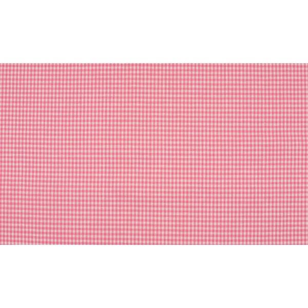 Outlet stoffen -Roze wit geruit katoen