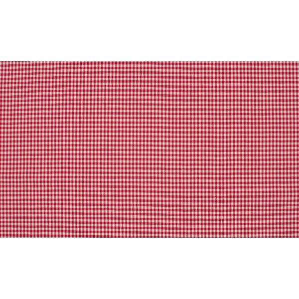 Outlet stoffen -Rood wit geruit katoen