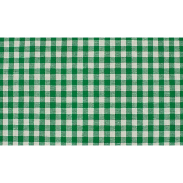 Outlet stoffen -Groen wit geruit katoen
