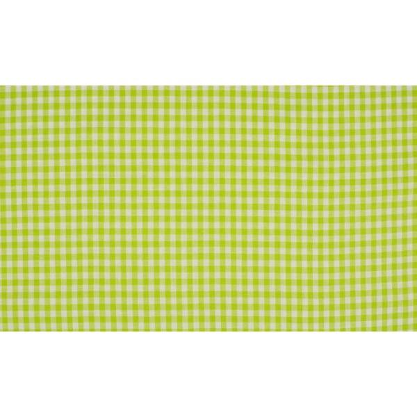 Outlet stoffen -Appelgroen wit geruit katoen