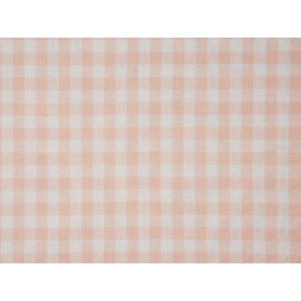 Boerenbont stof - Zalmroze - 10 meter