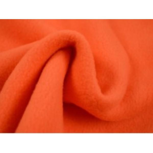 Fleece stof - Donker oranje