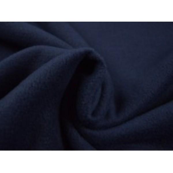 Fleece stof - Marineblauw
