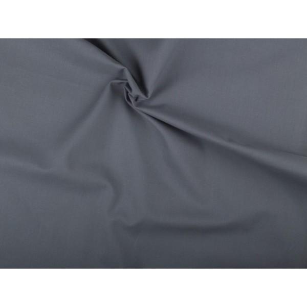 Katoen stof - Middelgrijs - 2 meter
