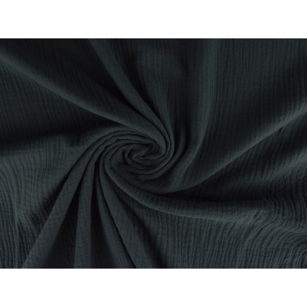 Mousseline stof donkergrijs - Katoenen stof op rol