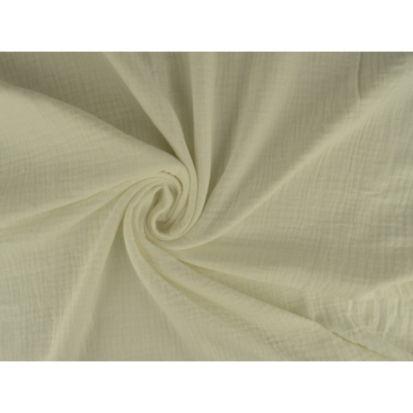 Mousseline stof gebroken wit - Katoenen stof op rol