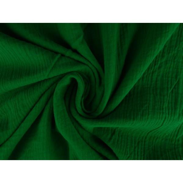 Mousseline stof groen - Katoenen stof op rol