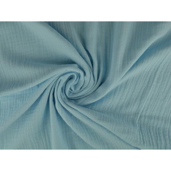 Mousseline stof baby blauw - Katoenen stof op rol