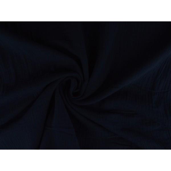 Mousseline stof marineblauw - Katoenen stof op rol