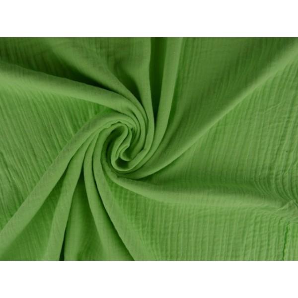 Mousseline stof mintgroen - Katoenen stof op rol