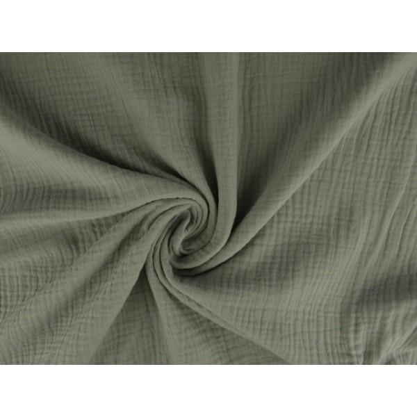 Mousseline stof zilvergrijs - Katoenen stof op rol