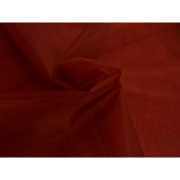 Organza stof - Bordeaux rood
