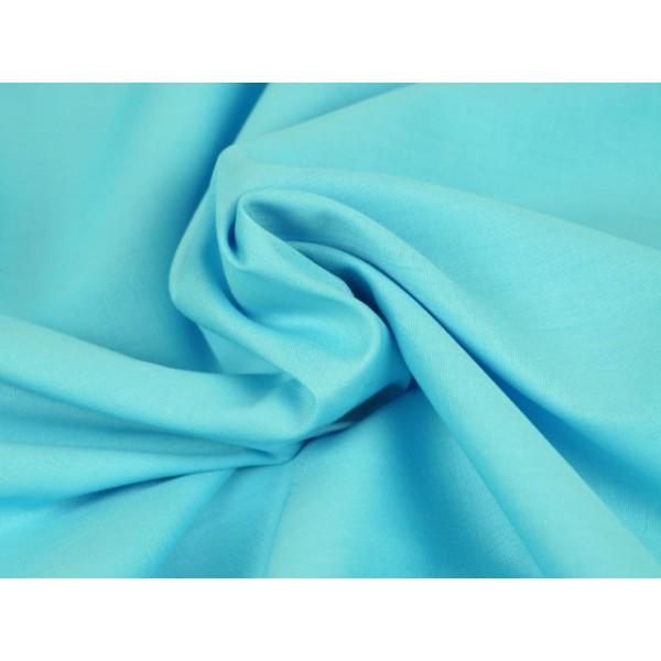 Poplin katoen aqua blauw - Katoenen stof op rol