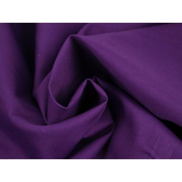 Poplin katoen paars - Katoenen stof op rol
