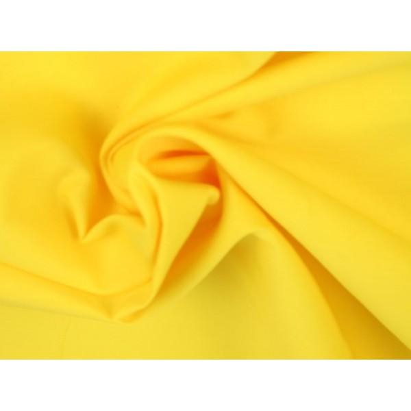 Poplin katoen geel - Katoenen stof op rol