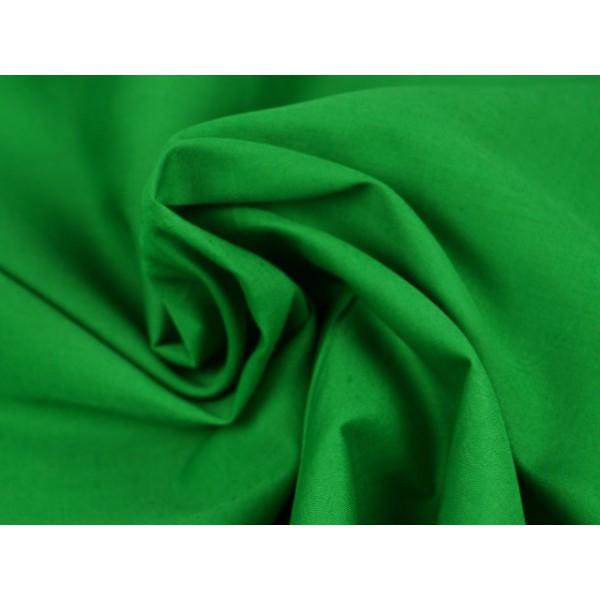 Poplin katoen groen - Katoenen stof op rol