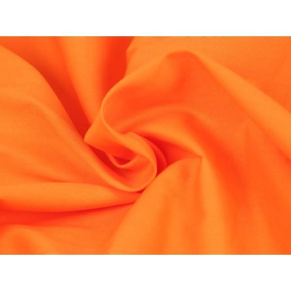 Poplin katoen oranje - Katoenen stof op rol