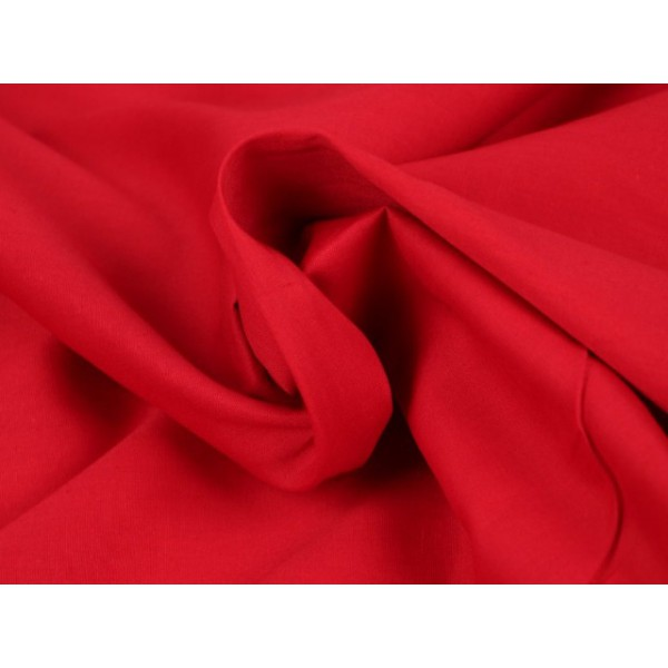 Poplin katoen rood - Katoenen stof op rol
