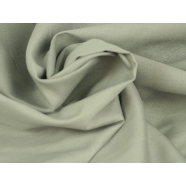 Poplin katoen zilvergrijs - Katoenen stof op rol