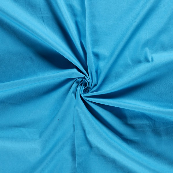 Waterblauw canvas stof - 100% katoen