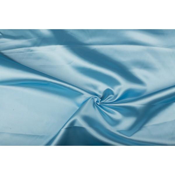 Satijn 50m rol - Lichtblauw - 100% polyester