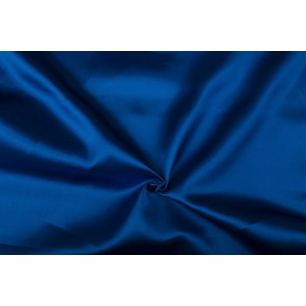 Satijn 50m rol - Blauw - 100% polyester