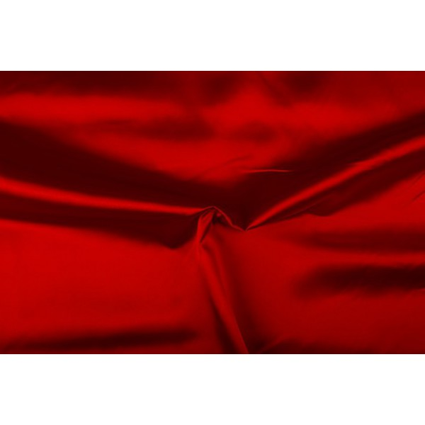 Satijn 50m rol - Rood - 100% polyester