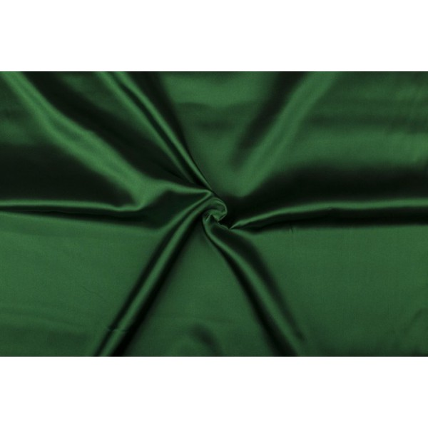 Satijn 50m rol - Donkergroen - 100% polyester