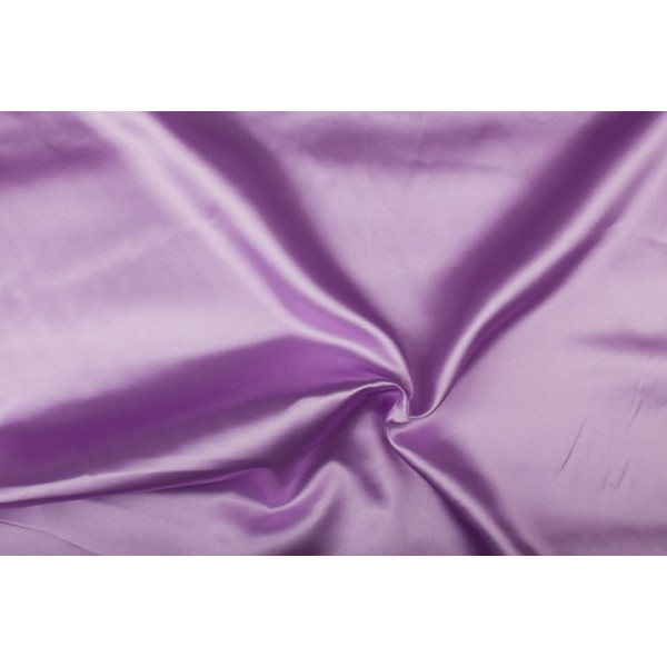 Satijn 50m rol - Lila - 100% polyester